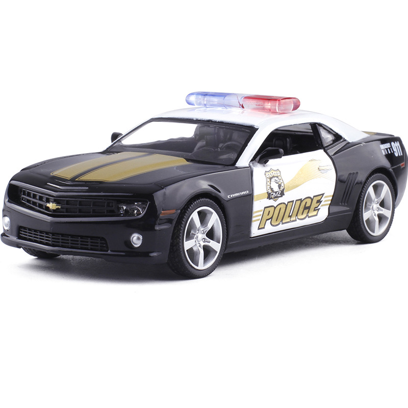 1:36 Scale RMZ city Chevrolet Camaro Racing Car Diecast Metal Alloy Classical Pull Back Matte Model Toy Car Kid Gift Collection