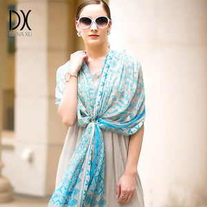 Image 5 - 100% Silk Scarf Women Face Shield Large Silk Shawl Pashmina Beach Blanket Scarf Luxury Brand India Muslim Hijab Foulard Wrap