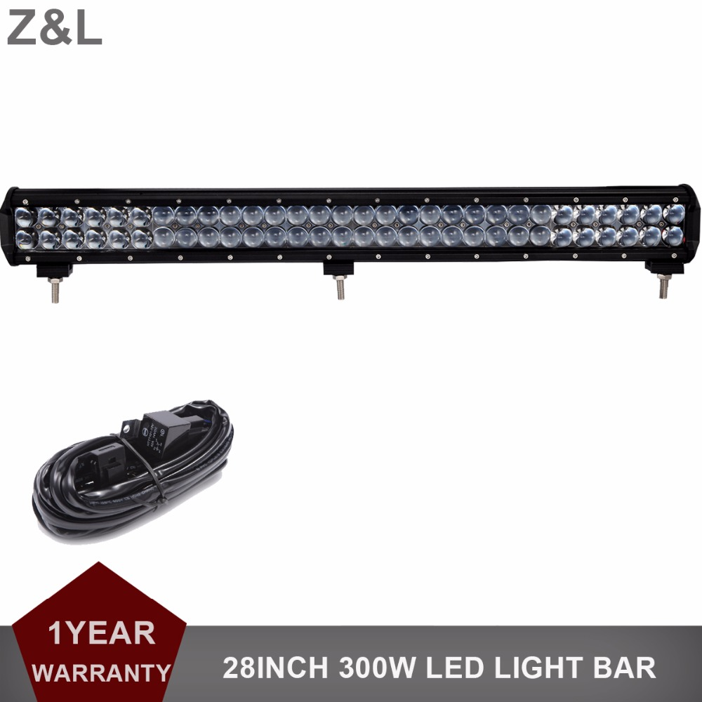 300W Offroad LED Light Bar 28 Combo Car Auto SUV Boat 4WD 4X4 ATV Camping Hunting Wagon Pickup Truck Trailer Headlamp 12V 24V