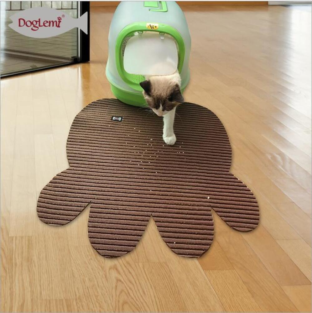 DogLemi font b Pet b font Dog Puppy Cat Feeding Mat Pad Cute Paw PVC Bed