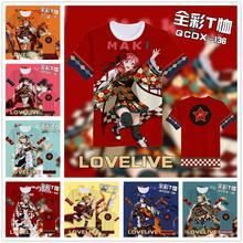 Brdwn Love live Unisex Koizumi Hanayo Nishikino Maki Sonoda Umi Hoshizora Rin Cosplay T-Shirts Short sleeve Tees Tops love live koizumi hanayo cosplay costume