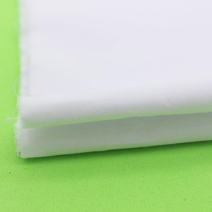 ผ้าฝ้ายสีขาวสำหรับชุดเย็บผ้า Plian ผ้าฝ้ายเนื้อเยื่อสิ่งทอที่บ้านทอ telas tecido