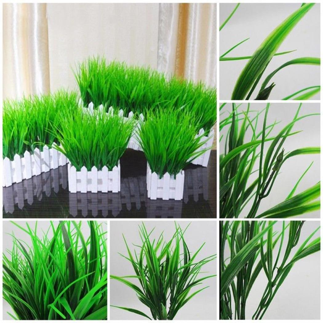 5PCS/Set Artificial Grass Plant Decorative Bendable Fake Plant Fake Grass Plant For Home Office