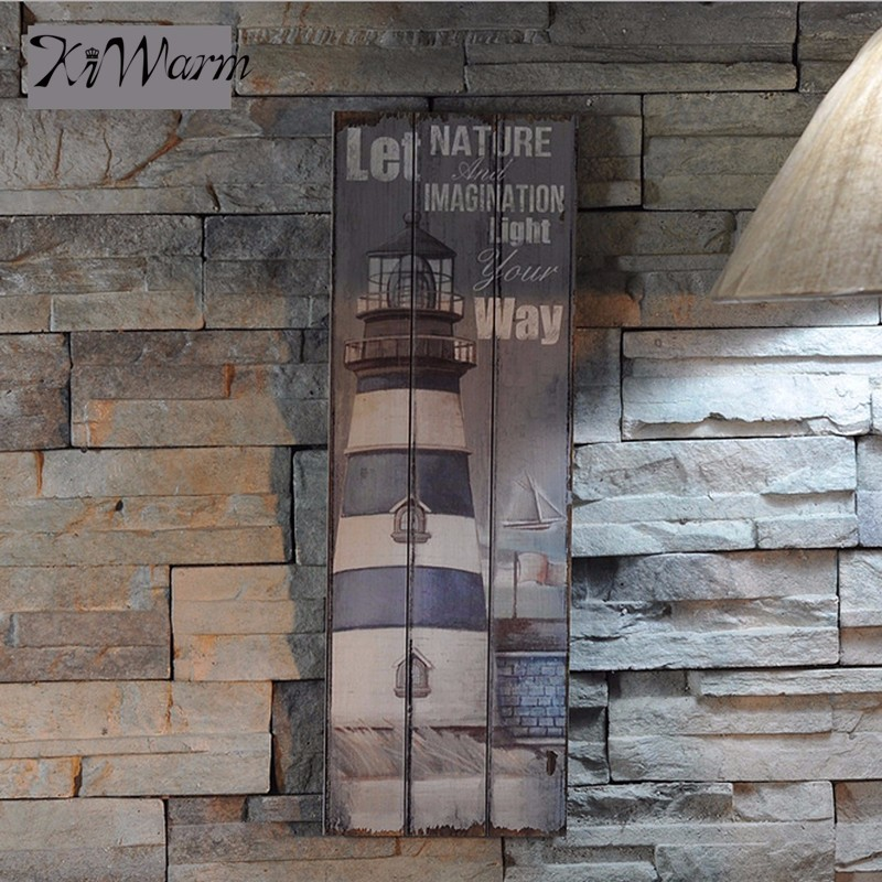 Hot selling nautical decor rustic wooden sign plaque wall