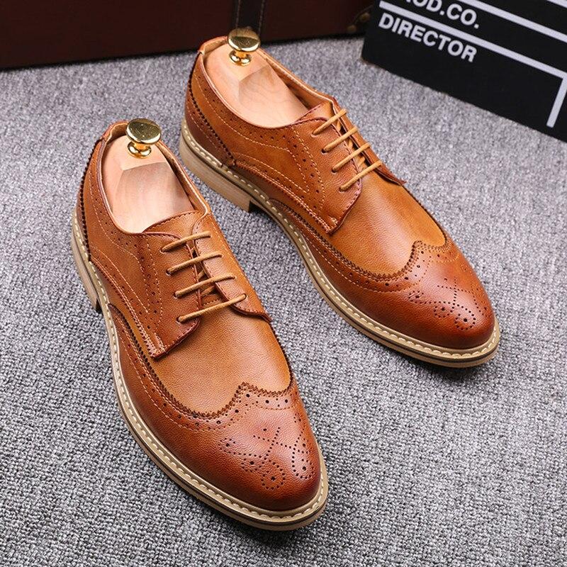 2017 Fashion Italian Designer Men Brogues Shoes Moccasins