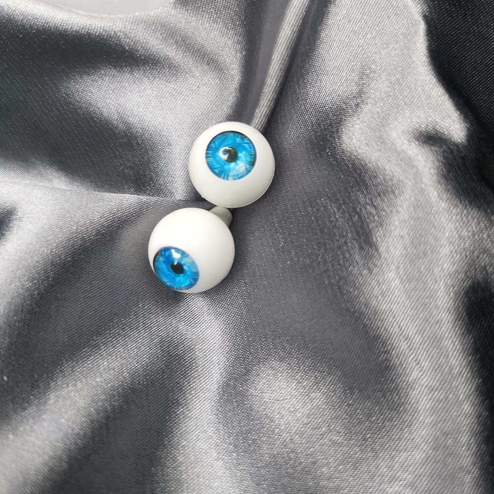 1//3 1//4 bjd 18mm acrylic doll eyes glitter turquoise full eyeball dollfie
