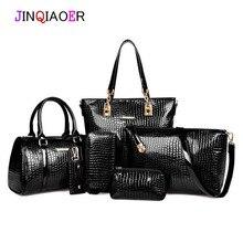 2015 mujeres bolso de cuero bolsos de mensajero de las mujeres bolsos de las señoras diseños de marca bolso bolsas Bolso + Bolso Del Mensajero + Bolso 3 Sets