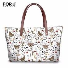 a806d75cd1 FORUDESIGNS Handbag Cute Nurse Bear Prints Women Luxury Tote Shoulder Bags  Handbags Ladies Fashion Crossbody Bag