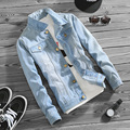2016 homens da moda denim jacket outwear sobretudo slim fit calças de brim da motocicleta jaquetas e casacos M-5XL DYG72