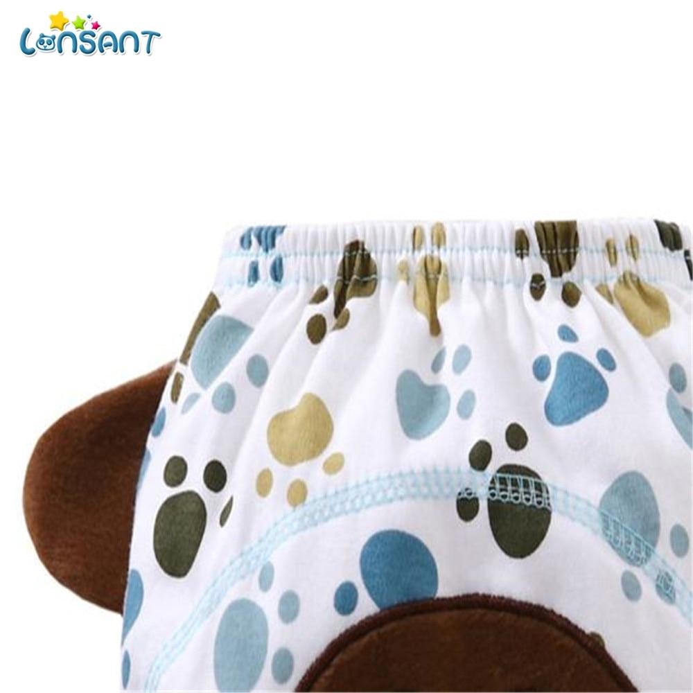 LONSANT Diaper Coth Hot Sale Baby Infant kids Animal Cartoon Ruffle Panties Briefs Diaper Cover Pants