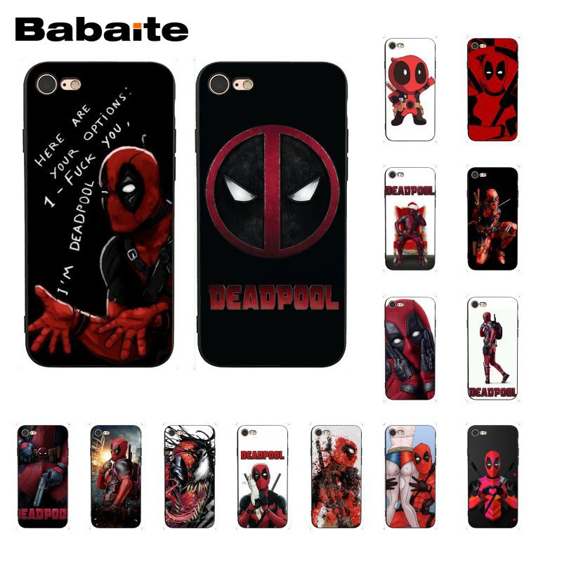 Babaite Marvel deed pool Deadpool  DIY Luxury Protector Phone Case for iPhone 8 7 6 6S Plus X XS MAX 5 5S SE XR 10 Cover marvel glass iphone case