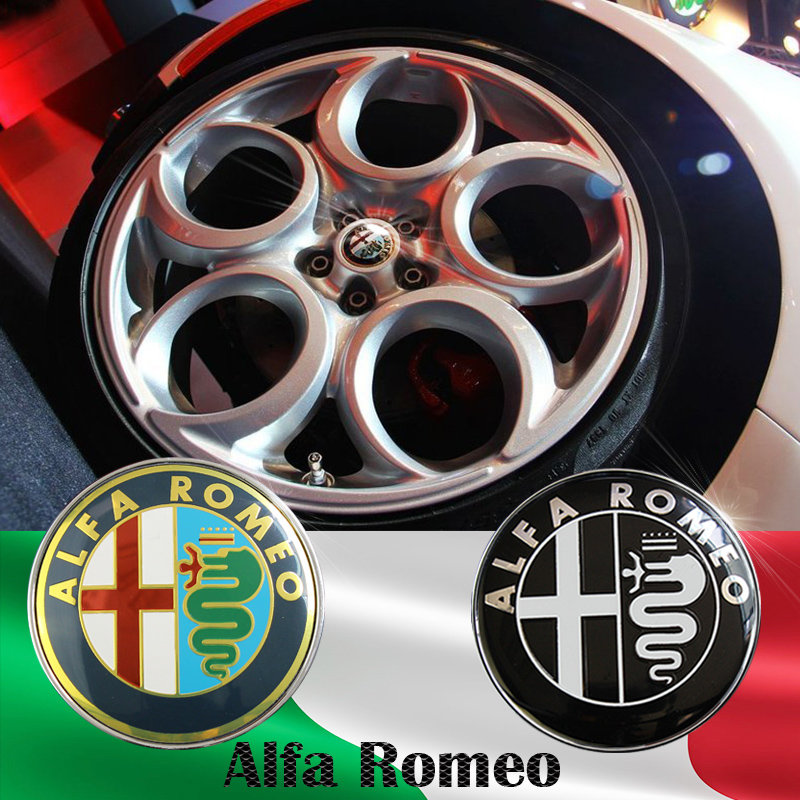 4pcs 60mm Black Silver Alfa Romeo GIULIETTA 159 BRERA NEW