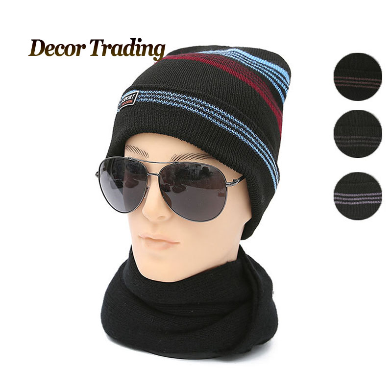 2016 Autumn Winter Hats Men  hat Warm Knitted Beanie Hats Men Caps Fleece Hat gorros de lana mengpipi womens letters knitted hats winter glass sequins beanie hat cap chapeu gorros de lana touca casquette cappelli bonnets