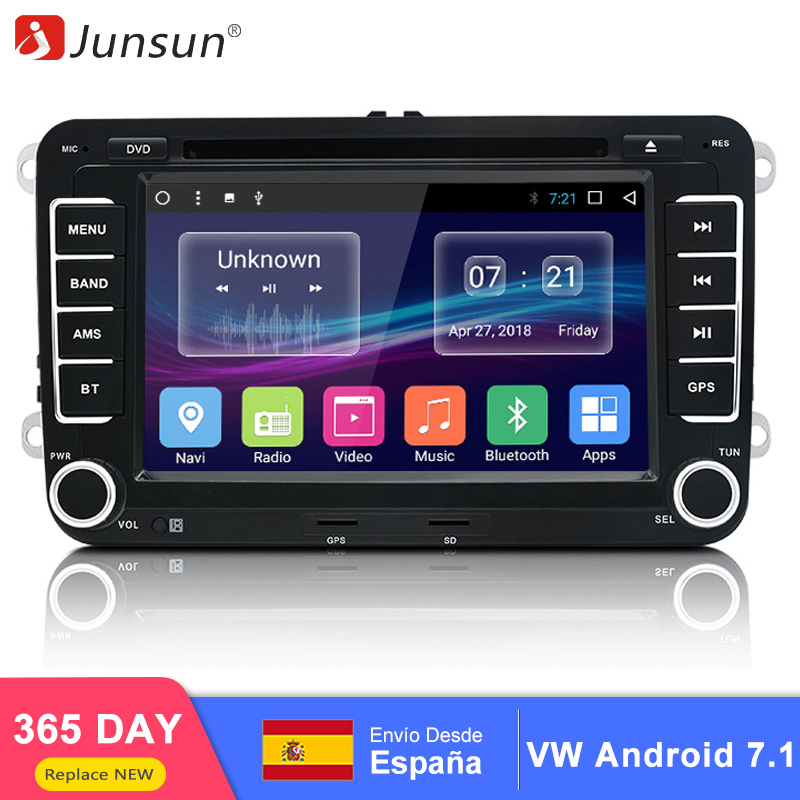 Junsun 7 GPS Android radio player 2 din Car DVD Audio Stereo multimedia for Volkswagen VW