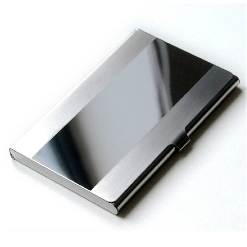 Card Holder Stainless Steel Silver Aluminium Credit