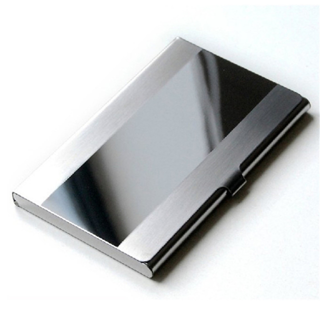 Card Holder Stainless Steel Silver Aluminium Credit Card Case Women Wallets Nueva Vogue Men ID Card Box Cartao De Visita 2018