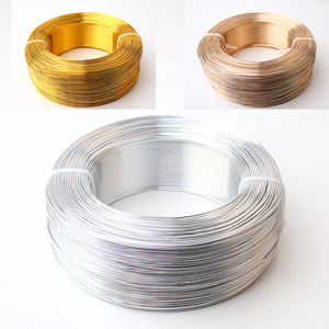 Image 2 - Wholesale Thickness 0.8mm 20 Gauge 0.5kg Silver Gold Champagne Anodized Aluminum Jewelry Craft Making Dead Soft Metalic Wire