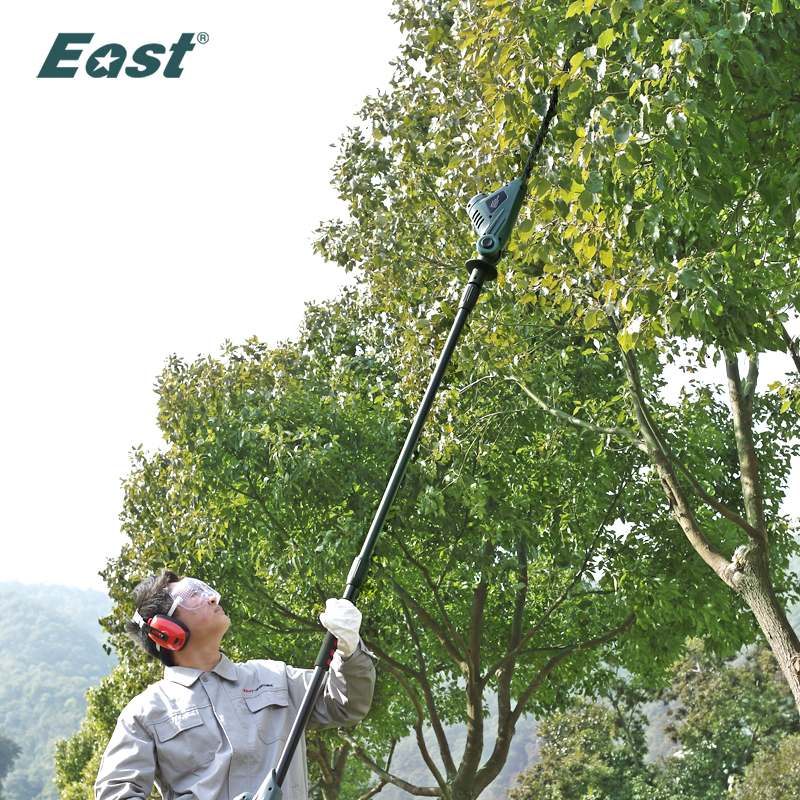 East 18V Cordless Pole Hedge Trimmer Hand Pruning Tools Garden Power Tools Portable Shrub Trimmer Green ET1005