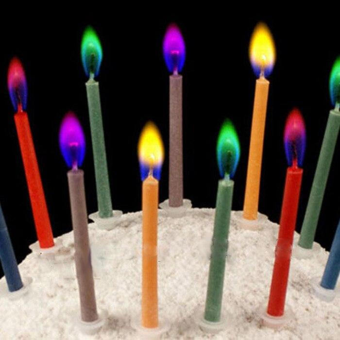 30 Unids/lote Multicolore llama velas festival fiesta de cumpleaños velas de col