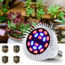 Led Plant Grow Light E27 Full Spectrum Led Bulb E14 220V Hydroponic Plants Lamp For Grow Tent Indoor 110V Led Coltivazione 18W цена и фото