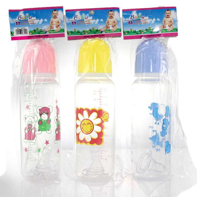 250 мл Красивая Детская Бутылочка Младенческая новорожденная дети учатся для кормления питья бутылка Дети Стандартный размер PP бутылки цвет случайный