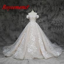 Robe de mariée de luxe en dentelle, robe de mariée de luxe, épaules dénudées et manches courtes, sur mesure, prix usine, vente en gros, nouvelle collection
