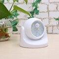 NUEVA 9 LED Luz de La Noche para Los Niños con Sensor de Movimiento Para Dormir luz Niños Lámpara de Noche Cama 360 Rotación Detector PIR de Infrarrojos IR
