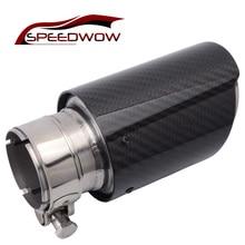 SPEEDWOW  Inlet 51mm to Outlet 76mm Car Exhaust Pipe Muffler Tip Carbon Fiber+Stainless Steel Escape Exhaust Muffler Tip
