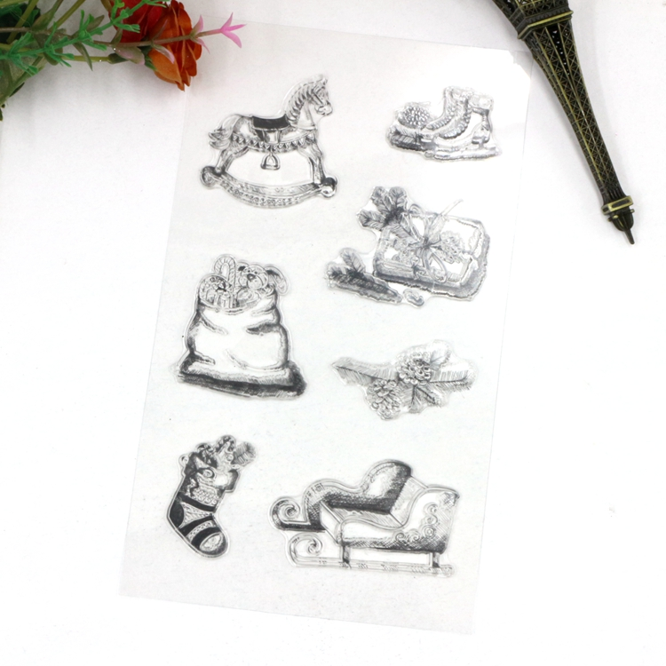 Christmas Rubber Stamps For Cardmaking and Scrapbooking Wooden Horse ...