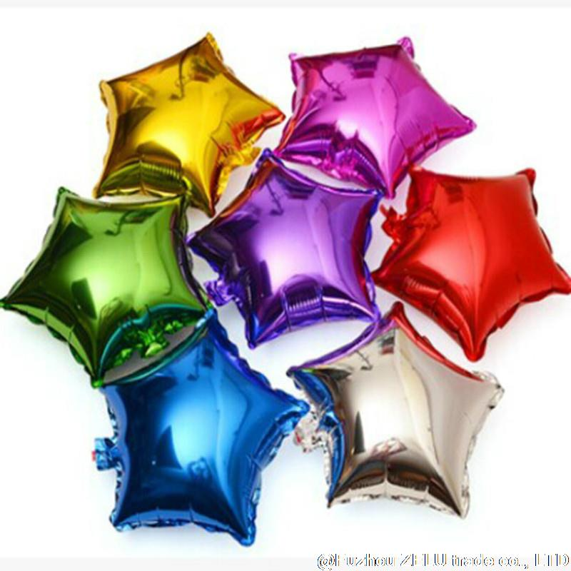 50pcs/lot 5 inch Star Foil Balloons Romantic Wedding Decoration Birthday Balloons Wedding Party Supplies 6D