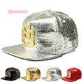 2017 Adult Crocodile PU Baseball Caps Golden Rhinestone Letter Logo Men Backpack Casquette Hats Casual Sports DJ Flat Women Hat