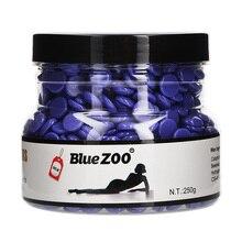 Blue ZOO Hard Wax Beans 250g Shaving Without Strip Wax Pellet Hair