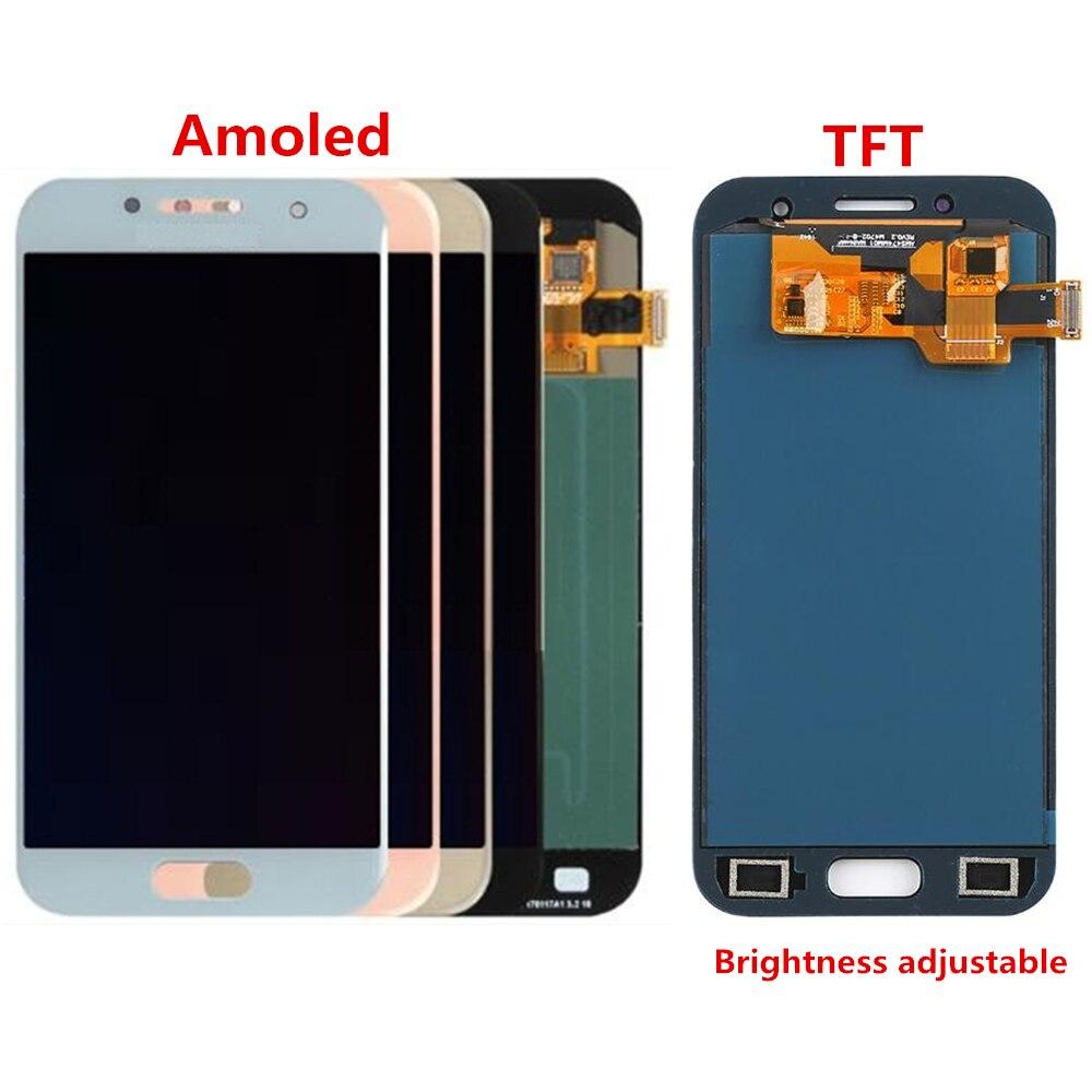 Pour Samsung Galaxy A3 2017 A320 A320F écran LCD et remplacement de l'assemblage du numériseur! (noir/bleu/or/rose)