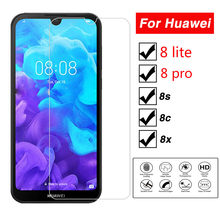 Protective Glass On For Huawei Honor 8s 8c 8x Tempered Glass S8 8 lite C8 Screen Protector Honer 8pro v8 note 8 glass Film(China)