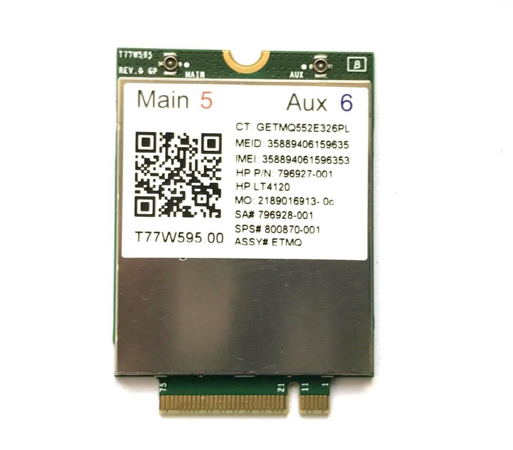 Lt4120  X5 LTE T77W595 796928-001 4G WWAN M.2 150Mbps LTE Modem For HP Elite X2 840 850 G3 640 650 645 G2