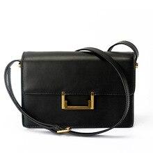 2016Hot new Korean fashion small square package genuine leather bag shoulder bag Messenger bag