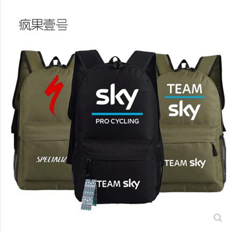 Team Sky Pro Cycle Specialized Thuner Printed Bag Backpacks Unisex Canvas Student Shoulder Bags Boys Girls blue sky and water frameless printed canvas art print 4pcs