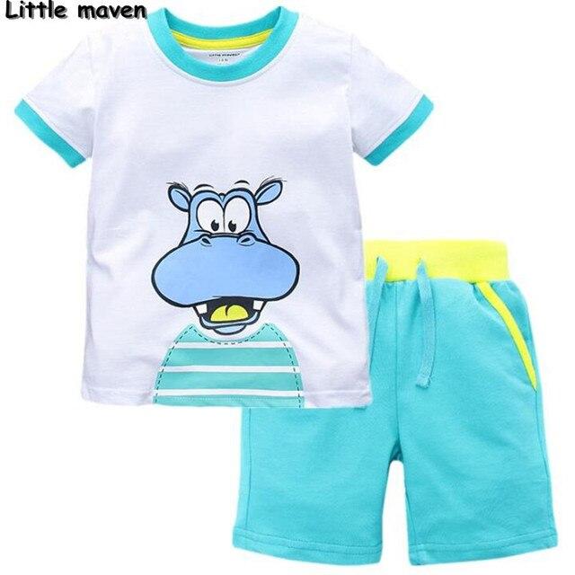 Little maven марка детская одежда 2017 новое лето baby boy одежда печати детский хлопка устанавливает 62007