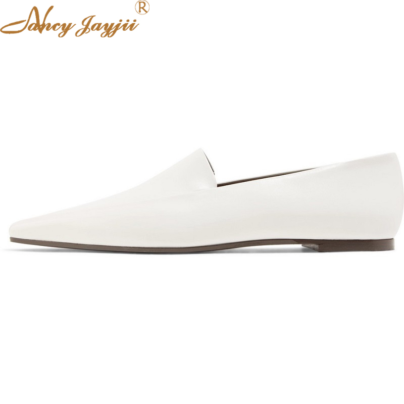 The Row Minimal Leather Loafers Shoes