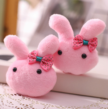 wholesale 100pcs kawaii soft fluffy cute plush rabbit pendant for iphone charm pendant accessories decoration gift free shipping