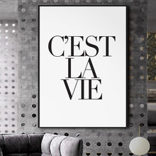 Cest La Vie French Life Quotes Paris Poster Canvas Wall Art Prints Paintings Wall Pictures for Living Room Home Decor No Frame(China)
