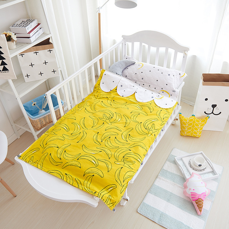 Ins Crib Bed Linen 3pcs Baby Bedding Cot Set Include Pillow Case Bed Sheet Duvet Cover Crib Bumper Without Filling Cot Bumper promotion 4pcs baby bedding set crib set bed kit applique quilt bumper fitted sheet skirt bumper duvet bed cover bed skirt