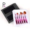 Princesa Rosa 6 unids cepillo de Dientes Oval Maquillaje Pinceles Set Maquillaje Kit de Cepillo Cosméticos Pincel Maquiagem Profesional Rosa de Oro Rosa