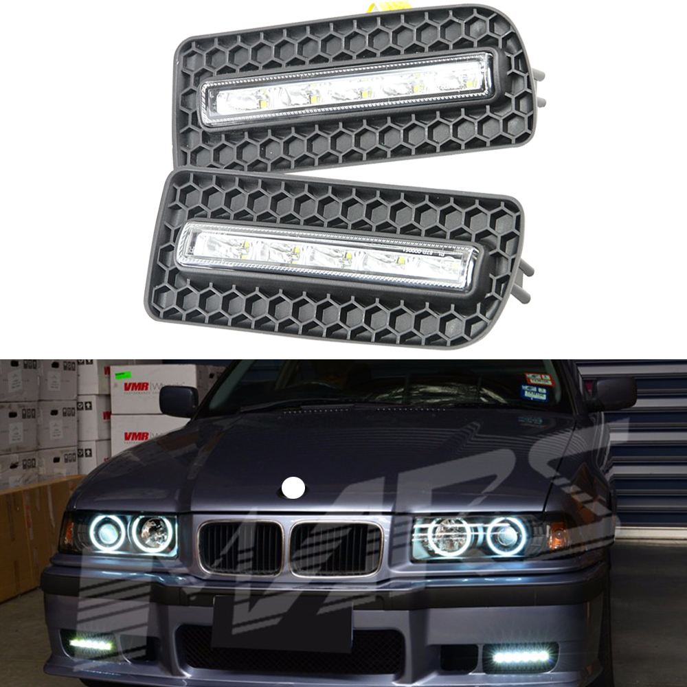 special fit 3 series e36 10w abs auto car daytime running lamp led drl daytime running lights. Black Bedroom Furniture Sets. Home Design Ideas