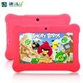 Irulu y1 7 ''bebê pad tablet pc para crianças quad core IPS Tela 1024*600 Dual Câmeras Android 4.2.2 1 GB/8 GB ROM Wifi Com caso