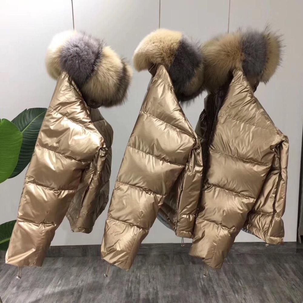 Véritable Ruban Beige Col Femmes D'hiver Canard Manteau bleu Naturel Fourrure Veste De Coréenne Blanc Vêtements Court noir Lâche Renard 2018 Duvet w7zUCqYxw