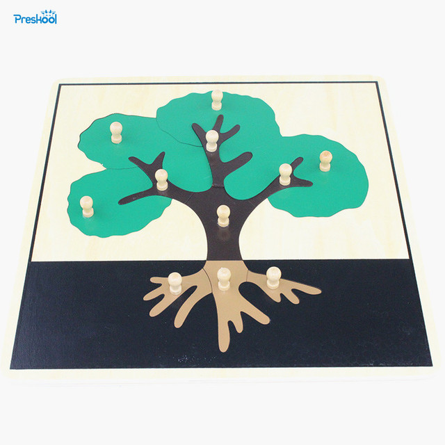 Baby Toy Kids Montessori Tree Puzzle Animal for Children Wood for ...