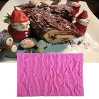 Tree Bark Texture Line Fondant Cake Border Lace Mold Silicone Mold For Kitchen Cake Decoration Cooking