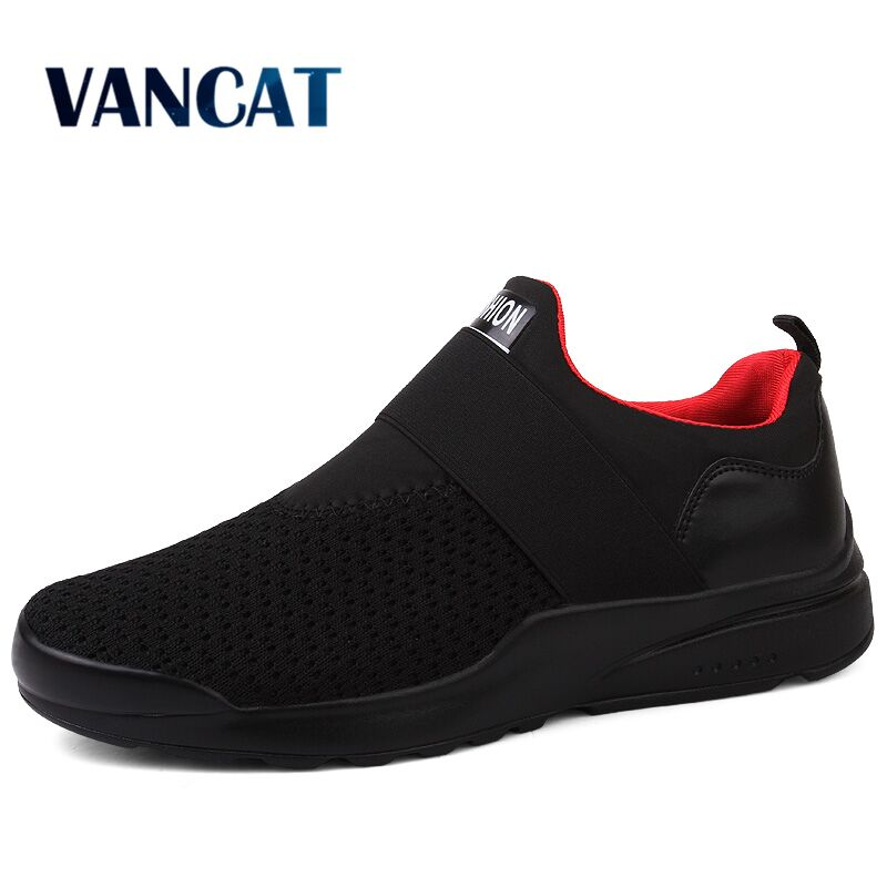 Vancat New Big Size Spring Summer Mens Shoes Breathable Mesh