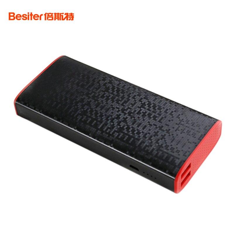imágenes para Besiter Banco de la Energía 10000 mah Dual USB Puerto Cargador de Batería Externo Powerbank 10000 mah Cargador Portátil Para Todos Los Teléfonos Móviles